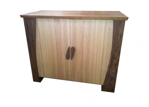 Verdure cabinet in Oak - Art Deco inspired cabinet, bespoke fine furniture in Reading, Berkshire, UK