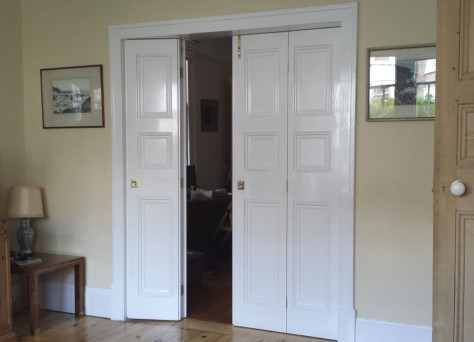 Bi-fold doors photo - bespoke Edwardian style folding doors, in Reading, Berkshire, UK