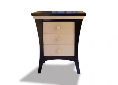 Hepburn bedside photo - Art Deco bedside cabinets, bespoke fine furniture in Reading, Berkshire, UK