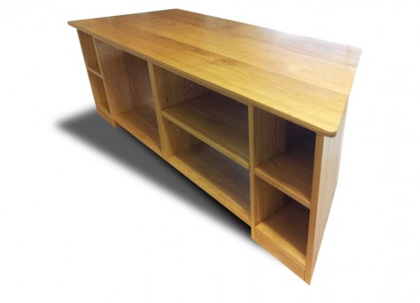 Industria TV unit in solid Oak
