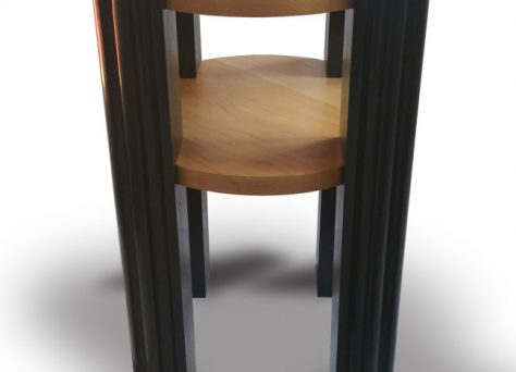 Art Deco Astoria side-table photo, Bog Oak and Maple